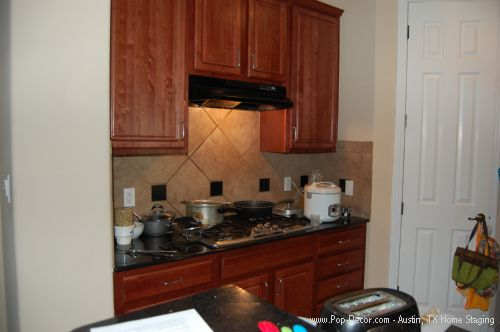 Home Staging Austin TX Before Picture of Kitchen